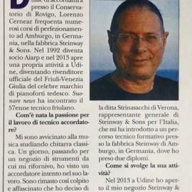 Suonare News, rivista nazionale diretta da Filippo Michelangeli